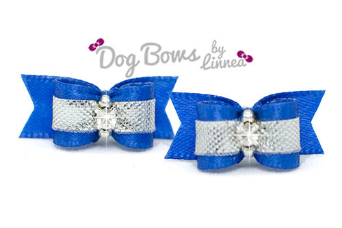 Royal Blue Satin Silver Plated